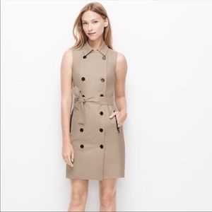 Ann Taylor Double Breasted Sleeveless Coat Dress
